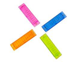 10 отверстие пластиковая губная гармоника, оригинальная этикетка коробка, детский музыкальный инструмент, пластиковая коробка