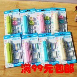 Fruit Lipstick Australia - Children's electric eraser South Korean elementary sketch automatic rubber lovely learning stationery