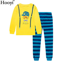 $enCountryForm.capitalKeyWord UK - Hooyi 2018 Baby Boys Clothes Suits Children Pajamas Kids Sleepwear Fashion Toddler Nightgown 2 3 4 5 6 7Y Sleep Clothing Suits