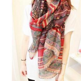 $enCountryForm.capitalKeyWord NZ - Wholesale-2016 New Fashion Trendy Bohemian Women's Long Print Scarf Wrap Ladies Shawl Girl Large Pretty Scarf Tole 6 Styles Cai0624