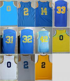 05274ae92 ... Stitched Jerseys Cheap 2017 UCLA Bruins College Basketball Jerseys 0  Russell Westbrook Blue White 2 Lonzo Ball 14 Men ...