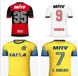 E.Ribeiro 7 Flamengo GUERRERO 9 Diego 35 Soccer Jerseys 17 18 Home Red  Black Away White Third yellow Custom Football Shirt Uniforms 11c611dc4