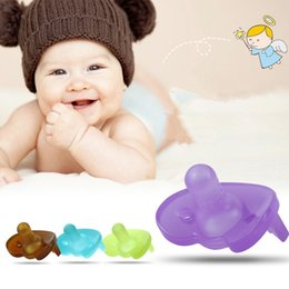 Dents De Silicone En Gros Pas Cher-Grossiste-Santé Silicone bébé drôle tétine Dummy Nipple Teethers Toddler Pacy orthodontique Teat nourrisson bébé cadeau de Noël 1pc