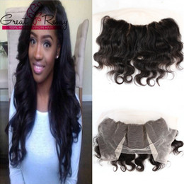body wave middle part lace closure NZ - Body Wave Lace Frontal Closure 13x4 Brazilian Virgin Hair Weaves Middle Part Top Closures Unprocessed Lace Frontal Hairpieces Great Remy