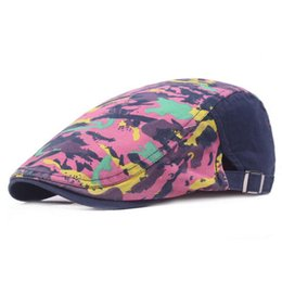 Fashion Adult Unisex Berets Adjustable camouflage Caps Duckbill Newsboy Hat  for Men Woman S-206 free shipping fc9e0785850c