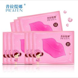 Barato Anti Lábio Gel De Envelhecimento-2000pcs / lot High Effectively Crystal Collagen Lip Mask Pads Moisture Essence Anti envelhecimento Wrinkle Patch Pad Gel Full Lips Enhancer