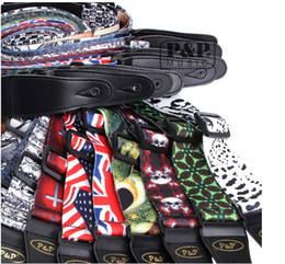 belts Australia - New styles Various Pattern 150cm Comfortable adjustable Polyester Belt PU Leather Ends Guitar Straps for Acoustic Folk Electric Guitar Bass