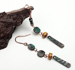 Wholesale Women Original design retro patina long dangle earrings foreign trade products factory price
