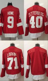 Blank red online shopping - 2017 New Brand Detroit Gordie Howe Henrik Zetterberg dylan larkin Blank Ice Hockey Jerseys Red Stitched