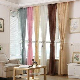 high quality sheer curtain pure color shading sun protection cross cambric for bedroom window decoration sold by meters mixed color