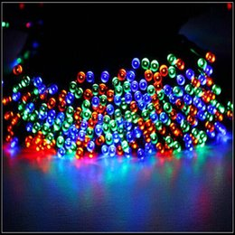 Wholesale  New Multi Color Solar Powered Fairy String Lights 39ft 12m 100  LED Christmas Lights For Holiday Halloween Decoration Lights Multi Color  Solar ...