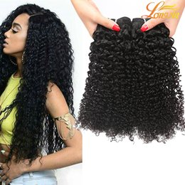 Curly hair perming online shopping - 7A Malaysian Kinky Curly Virgin Hair Bundles Indian Brazilian Indian Mongolian Kinky Curly Hair Unprocessed Curly Weave Human Hair