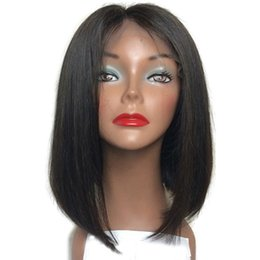 China Silk Top Full Lace Wigs With Baby Hair Unprocessed Indian Virgin Human Hair Short BOB Silk Base Lace Front Wigs For Black Women cheap human hair silk top bob suppliers