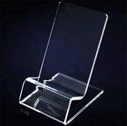 phone display holder stands 2019 - DHL fast delivery Acrylic Cell phone mobile phone Display Stands Holder stand for 6inch iphone samsung HTC cheap phone d