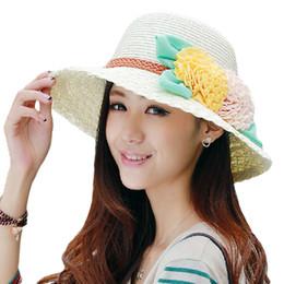 Large brim femaLe hats online shopping - Fashion Seaside Sun Visor Hat Female Summer Sun Hats for women large brimmed girls Travel folding beach straw sun hat