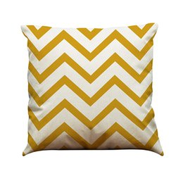 $enCountryForm.capitalKeyWord UK - Colorful Line Pattern Linen Cushion Cover Linen Square Pillow Case Wave Lines Pink Yellow Black Without Filling Living Room Dining Room Home