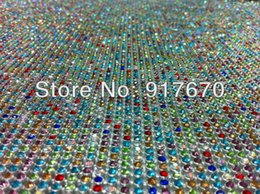 $enCountryForm.capitalKeyWord NZ - Wholesale lot Hot fix 3mm rhinestone trimming, mix color crystal mesh wrap roll, rhinestone chain trim for christmas accessories