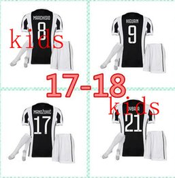 top 17 18 kids home away juve soccer jersey kits 2017 2018 marchisio dybala higuain alves