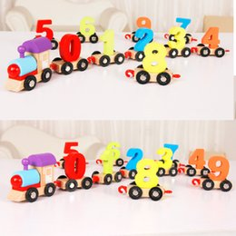Number Blocks Canada - Baby Original Muwanzi Childrens Block Number Train Colorful Educational Puzzle Wooden Train Kids Assembly Puzzle Toys
