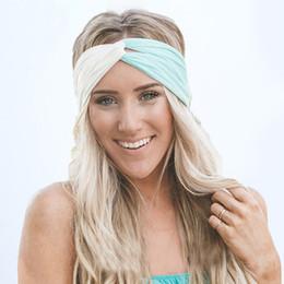 $enCountryForm.capitalKeyWord Canada - Twist Turban Headband for Women Hair Accessories Stretch Hairbands Girls Headwear Headbands Head Wrap Band Bandana