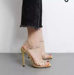 $enCountryForm.capitalKeyWord Canada - 2017 fashion women gladiator sandals sexy party shoes thin heel sandals gold spike stud high heels wedding shoes ladies PVC sandals