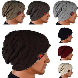 e0027b3a885 Women Men Unisex Warm Winter Skull Knitted Hat Baggy Beanie Hip-hop Cap  Hollow Double Face Wear Five Star Stripe Cap