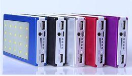 $enCountryForm.capitalKeyWord Australia - Solar Power Bank Dual USB Power Bank 15000mAh External Battery Portable Charger Bateria Externa Pack for Mobile phone