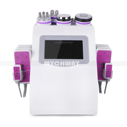 Chinese  New Promotion 6 In 1 Ultrasonic Cavitation Vacuum Radio Frequency Lipo Laser Slimming Machine for Spa manufacturers