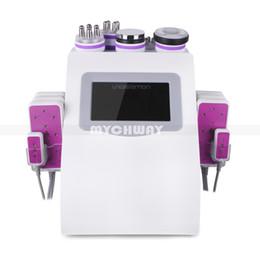 Vente en gros Nouvelle promotion 6 en 1 laser ultrasonore de lipo de fréquence de cavitation ultrasonique amincissant la machine pour la station thermale