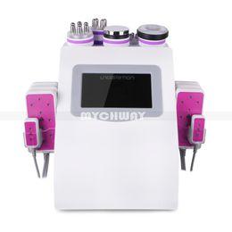 Nueva promoción 6 en 1 láser ultrasónico de Lipo de la radiofrecuencia del vacío de la cavitación que adelgaza la máquina para el balneario