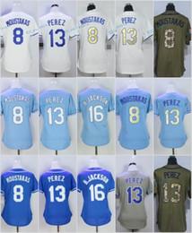 e7dadbb3d3e Discount el salvador jersey 2017 Women Stitched Kansas City Blank 8 Mike  Moustakas 13 Salvador Perez
