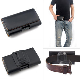 cell phone pouch pu leather Canada - Leather Waist Hang Case Mobile Phone Cover Belt Holster Clip Pouch Sleeve for 4.5 5.5 5 inch all Cell Phone