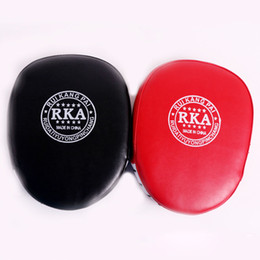 Mitts focus punch pads online shopping - Fashion Boxing Mitt Training Target Focus Punch Pads Gloves MMA Karate Combat Thai Kick PU Foam Material Boxing Protective Gear