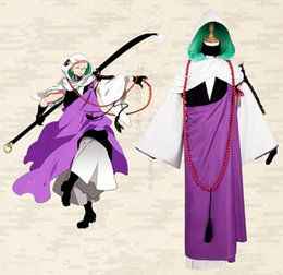 game gloves NZ - Japanese Anime Game Touken Ranbu Online Cosplay Iwatooshi Costume Shirt+Cloack+ Coat+ Pants +Vest+Hat+Glove+Waistband +beads per set
