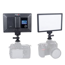 Freeshipping Ultra-thin adjustable 3300K-5600K LED Video Light with hot Shoe Adapter for Canon Nikon Sony DSLR Camera on Sale