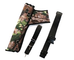$enCountryForm.capitalKeyWord Canada - 3 Tube Ultralight Hunting Training Camo Archery Arrow Quiver Holder Bow Belt Shoulder Bag Pouch Waist hanged Shoulder Hanged (Leaves Camo)
