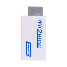 Venta al por mayor de Envío gratuito para Wii a HDMI 1080P Convertidor Adaptador Wii2HDMI de 3,5 mm Salida de audio y video Full HD 1080P Mejora de la salida