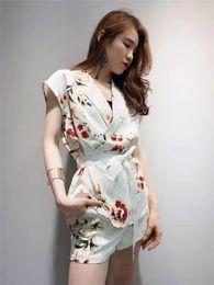 $enCountryForm.capitalKeyWord Canada - In summer 2017 DS Korean style Lapel waist strap printing high waisted shorts suit female