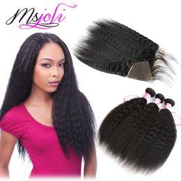 $enCountryForm.capitalKeyWord Canada - Peruvian Human Hair Wefts with Closure 13x4 Frontal Unprocessed Natural Hair Ear To Ear Kinky Straight Yaki Hair Weave 3 Bundles Frontal