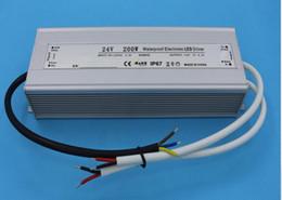 $enCountryForm.capitalKeyWord Canada - Free Shipping AC 90-250V to DC12V DC24V 200 watts Waterproof LED Power Supply Driver Transformer, Aluminum Alloy Case, proof Level IP67