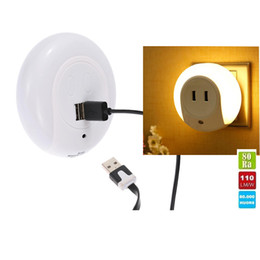 Bedroom wall night light online shopping - Smart Design LED Motion Night Light with Light Auto Sensor Dual USB Wall Plate Charger Socket Soft Lamp for Bathrooms Bedrooms Decor