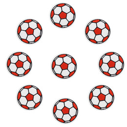 $enCountryForm.capitalKeyWord UK - 10 pcs Footballs patches badges for clothing iron embroidered patch applique iron on patches sewing accessories for DIY clothes