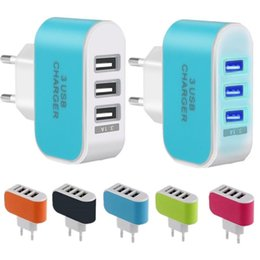 Universal travel adaptor Usb online shopping - US EU Plug USB Ports Wall Charger V A LED Adapter Travel Convenient Power Adaptor with triple USB Ports For iphone for samsung