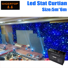 Wholesale Freeshipping M M led star cloth stage backdrop Order Customized LED Backdrops Curtain Screen Pixel Pitch Customized mm RGB full color