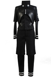 Chinese  Halloween Men's Tokyo Ghoul Ken Kaneki Jumpsuit Battle Uniform Cosplay Costume manufacturers