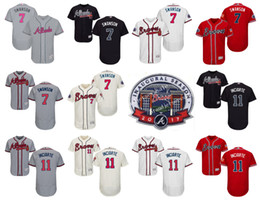 fb38d74af Atlanta Braves 7 Dansby Swanson gray 2017 mothers day jerseys 11 Ender  Inciarte . ...