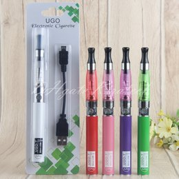 Red Ego T Australia - UGO-T 510 Batteries UGO T eGo-t vape pen ce4 smoking atomizer wicks e liquid vaporizer pens 5pins ecig charger blister starter kits