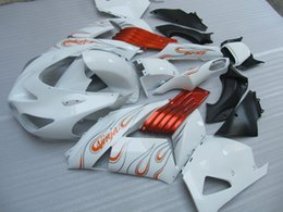 zx14r fairings Canada - Injection molding free customize fairing kit for Kawasaki Ninja ZX14R 06 07 08-11 red white fairings set ZX14R 2006-2011 OT12