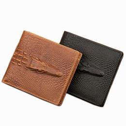 $enCountryForm.capitalKeyWord Canada - Fashion Designer Genuine Leather Men Wallets Alligator Pattern Black Brown Colors Credit Card Holder Purse Wallet Free Shipping