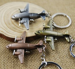 $enCountryForm.capitalKeyWord Canada - Fashion Mini 3D Airplane Keychain Aircraft Pendant Keyring Keyfob Small Plane Key Chain Cute Christmas Gift 3 Color C14L